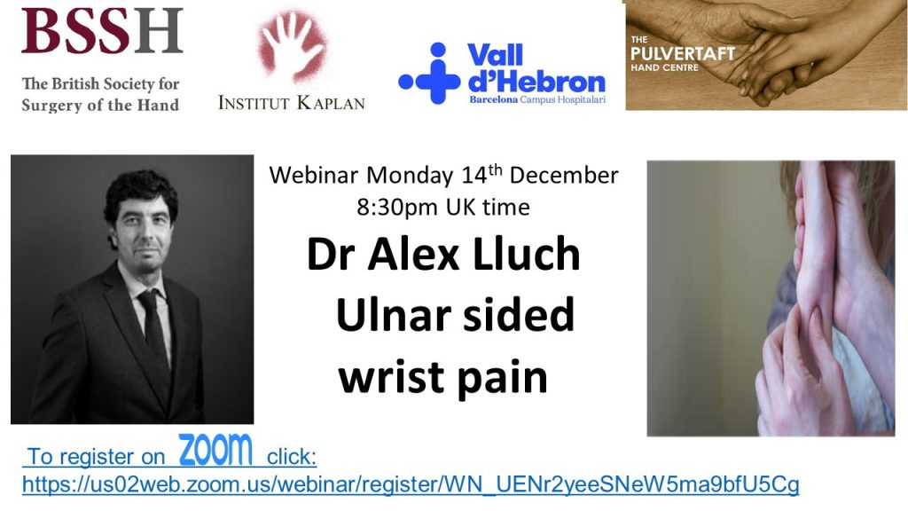 This image has an empty alt attribute; its file name is Alex-Lluch-Webinar-flyer-ulnar-sided-wrist-pain-1024x576.jpg